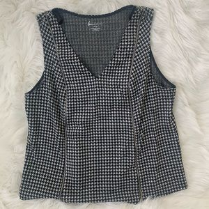 Lane Bryant Sleeveless Houndstooth Blouse SZ 14/16